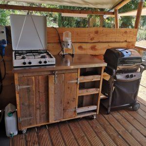 (Margherita Lodge Tent 25 mq Angolo cottura esterno)